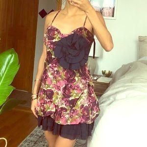 Patterned mini brunch dress xs